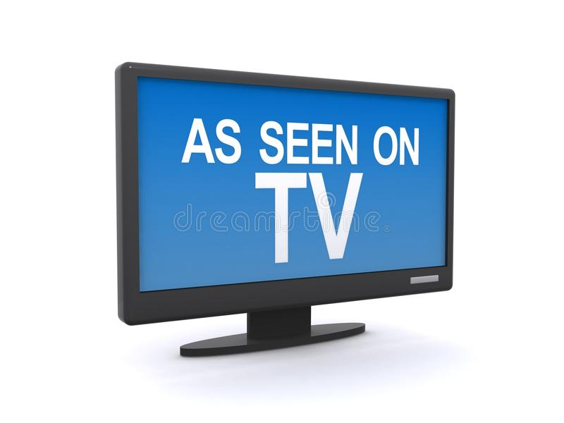 Download As seen on television stock illustration. Image of isolated - 26315165