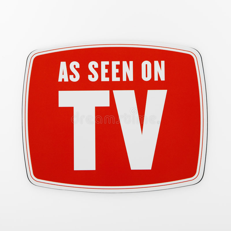 As seen on TV. As seen on TV sign stock photos