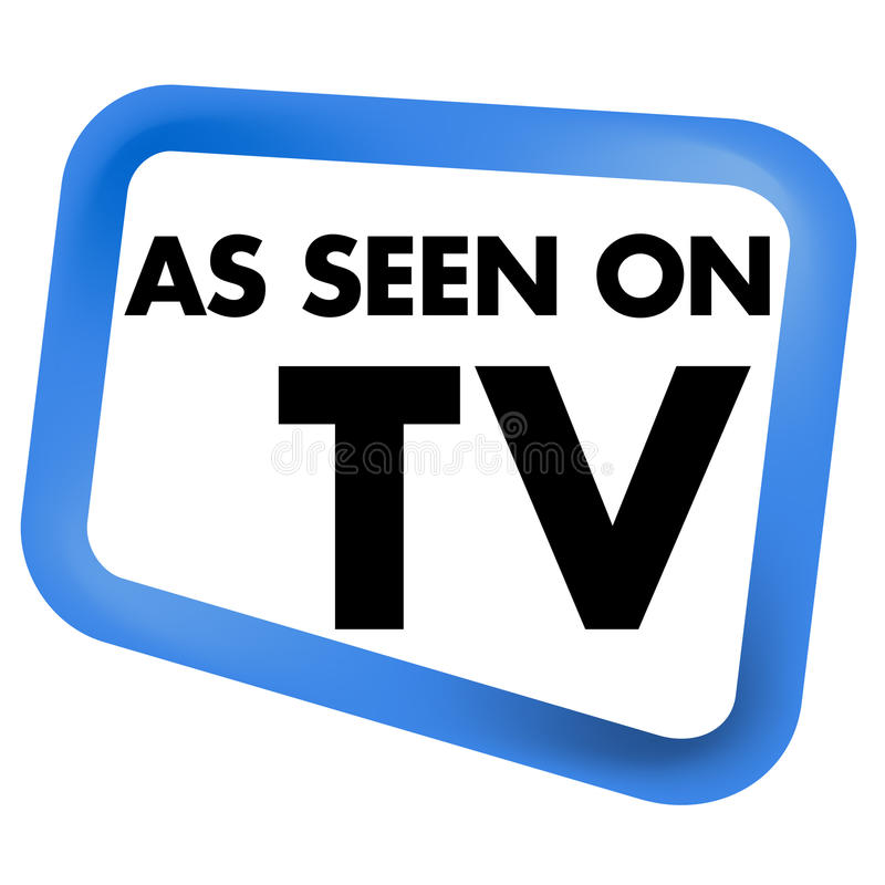 As Seen on TV Icon. For website and print use stock illustration