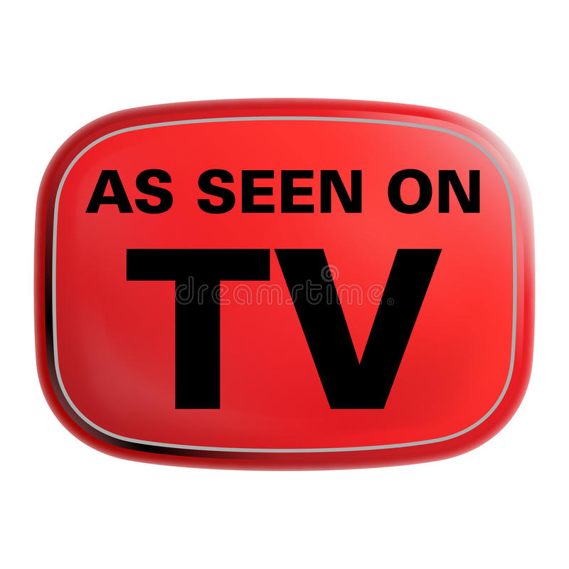 As Seen on TV Icon. For website and print use. Perfect to use when you advertise your product over television and internet media vector illustration