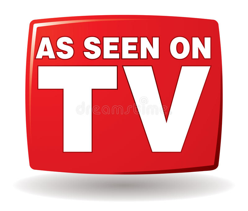 As Seen On TV Logo. An As Seen on TV Logo icon in colour royalty free illustration