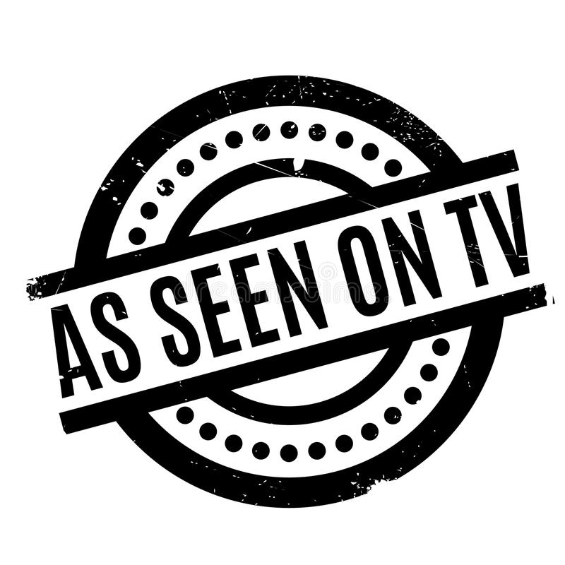 As Seen On Tv rubber stamp. Grunge design with dust scratches. Effects can be easily removed for a clean, crisp look. Color is easily changed vector illustration