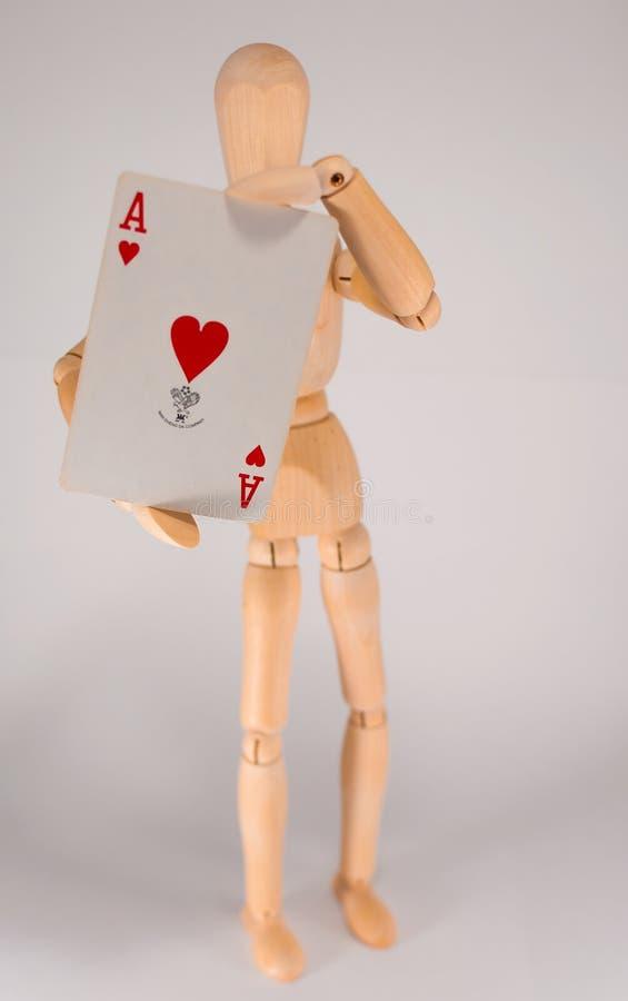 As serca - Woodman zdjęcie stock