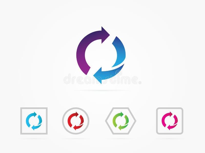 As setas da ilustração gerenciem o ícone fotos de stock