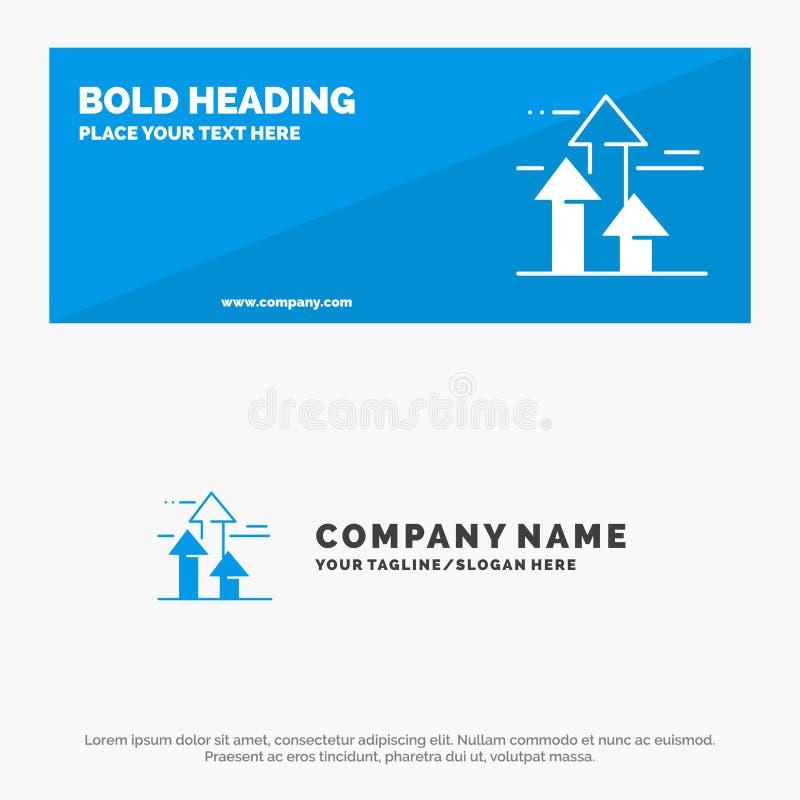 As setas, ruptura, quebrar, dianteira, limitam a bandeira contínua do Web site do ícone e o negócio Logo Template ilustração royalty free