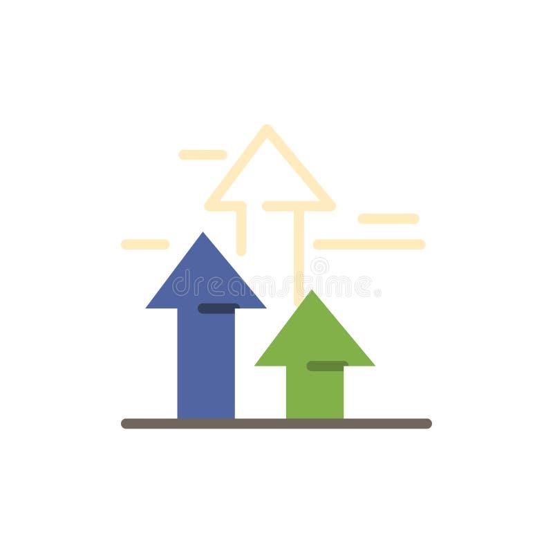 As setas, ruptura, quebrar, dianteira, limitam o ícone liso da cor Molde da bandeira do ícone do vetor ilustração do vetor