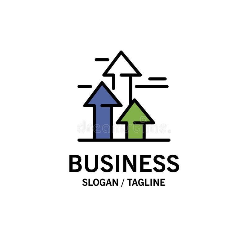 As setas, ruptura, quebrar, dianteira, limitam o negócio Logo Template cor lisa ilustração do vetor