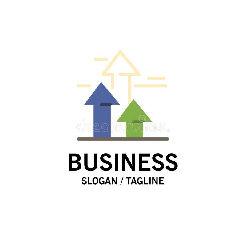 As setas, ruptura, quebrar, dianteira, limitam o negócio Logo Template cor lisa ilustração royalty free