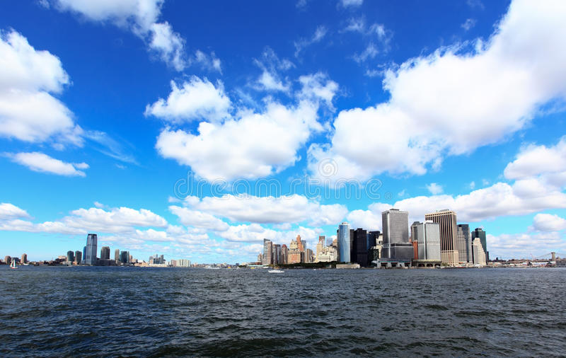 As skylines do Lower Manhattan fotografia de stock