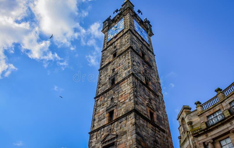 As sobras de Tolbooth em Glasgow, Escócia foto de stock royalty free