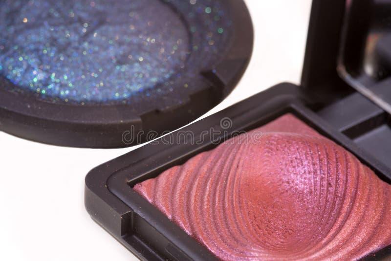 As sombras para os olhos cor-de-rosa escuras e cremosas para compõem fotos de stock royalty free