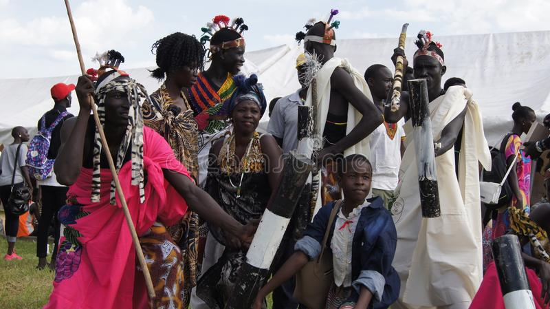A peace-promoting festival is attended by thousands of people in Juba. As South Sudan peace talks take place in Addis Abeba, a peace-promoting festival (Hagana) stock image