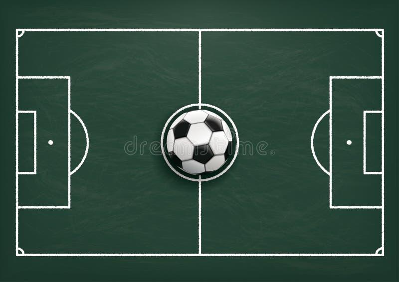 As táticas do futebol moeram o quadro-negro verde ilustração royalty free