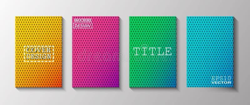 As tampas coloridas projetam ilustração stock