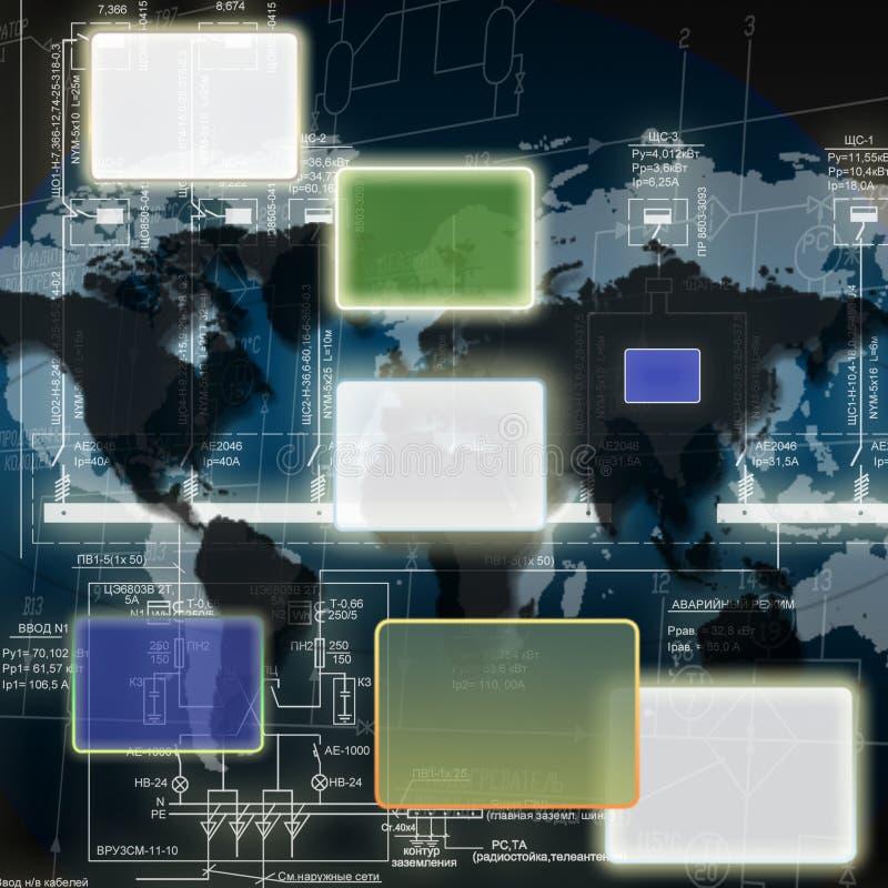 As tecnologias as mais novas da engenharia ilustração stock