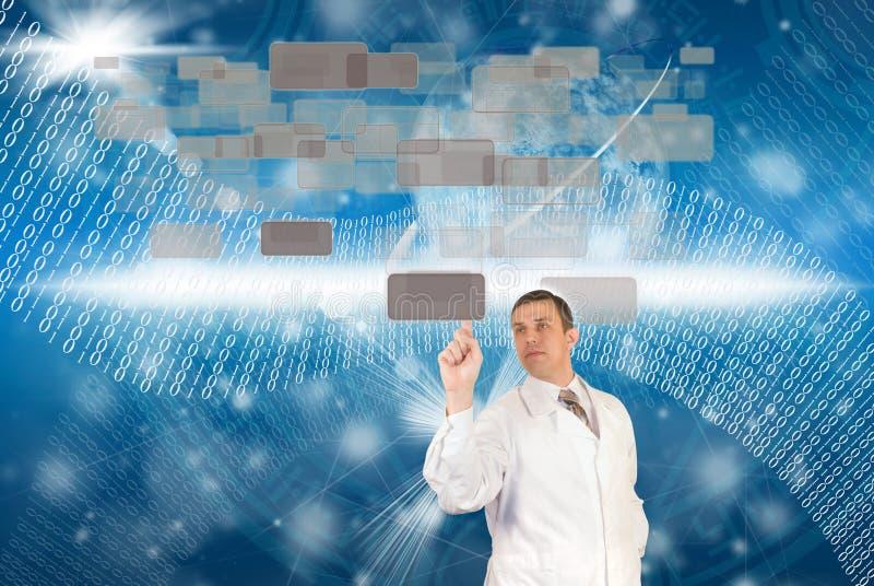 As tecnologias as mais novas do Internet fotografia de stock