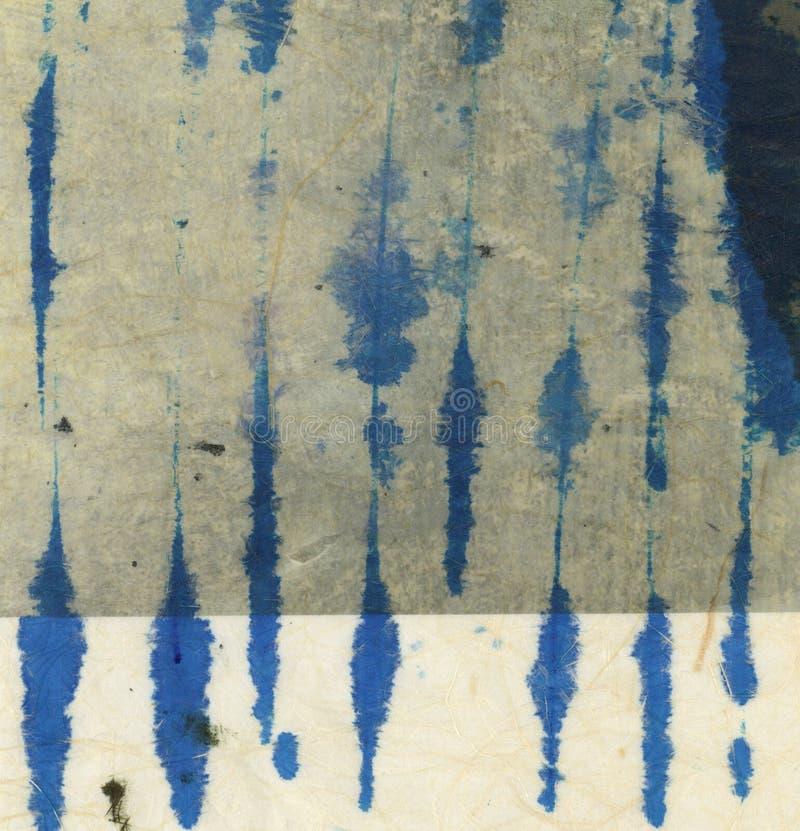 As texturas azuis do bloco abstraem a pintura ilustração stock