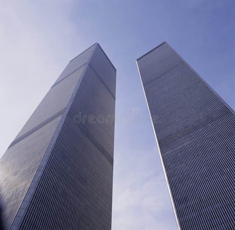 As torres gêmeas do World Trade Center em 1991 foto de stock