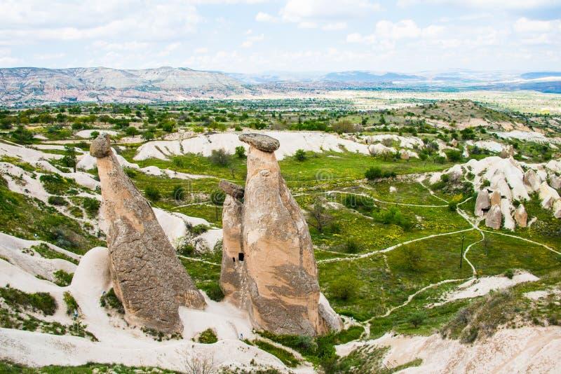 As três benevolências em Cappadocia imagem de stock