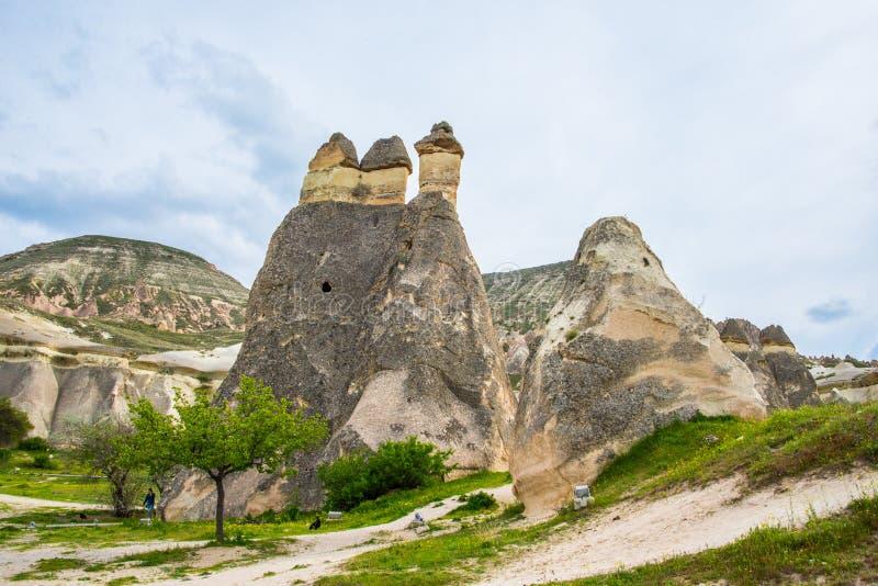 As três benevolências em Cappadocia imagens de stock