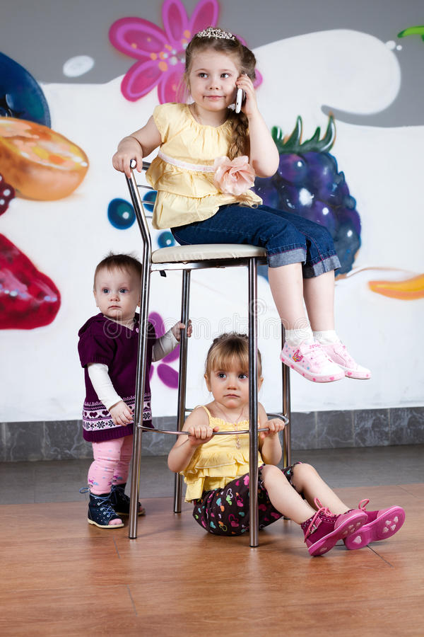 As três meninas imagens de stock royalty free