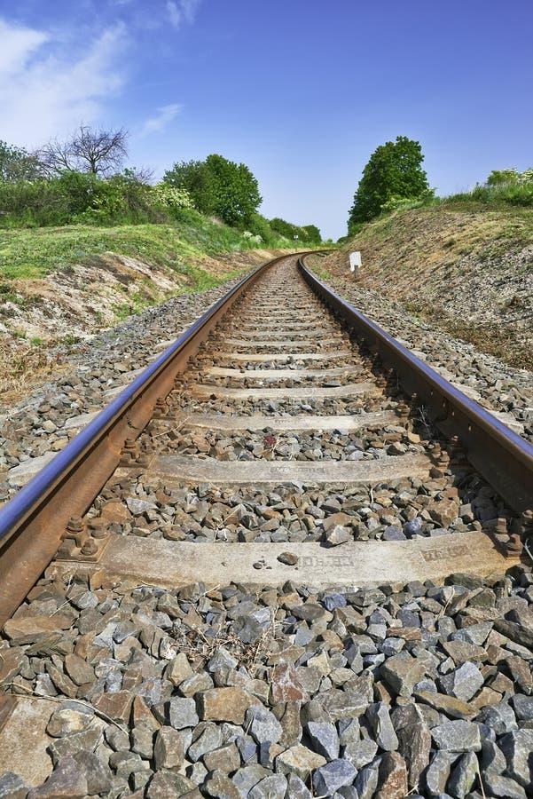 As trilhas de estrada de ferro imagem de stock