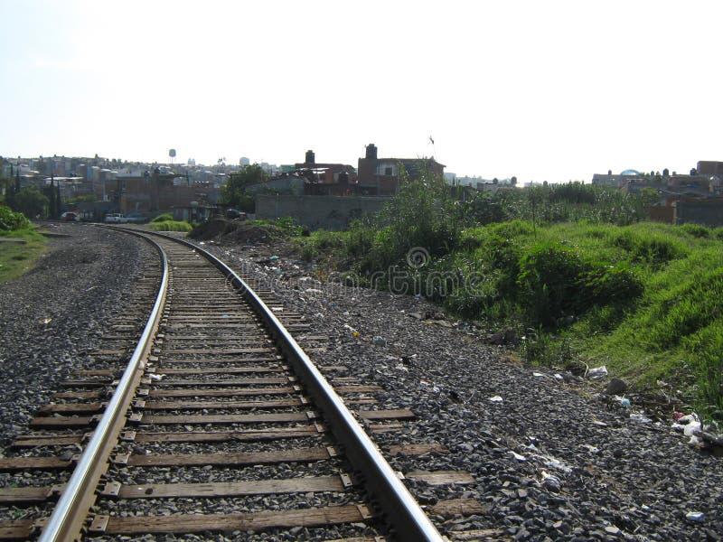 As trilhas do trem foto de stock royalty free