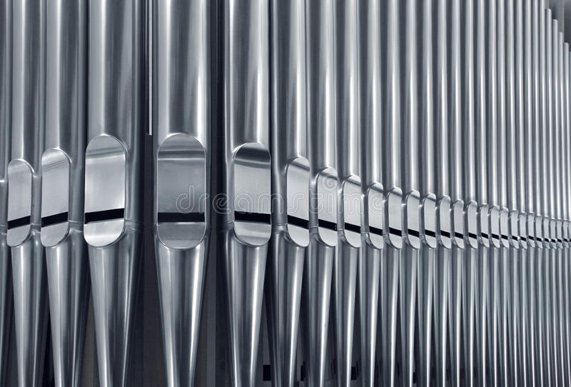 As tubulações de órgão fecham-se imagem de stock royalty free