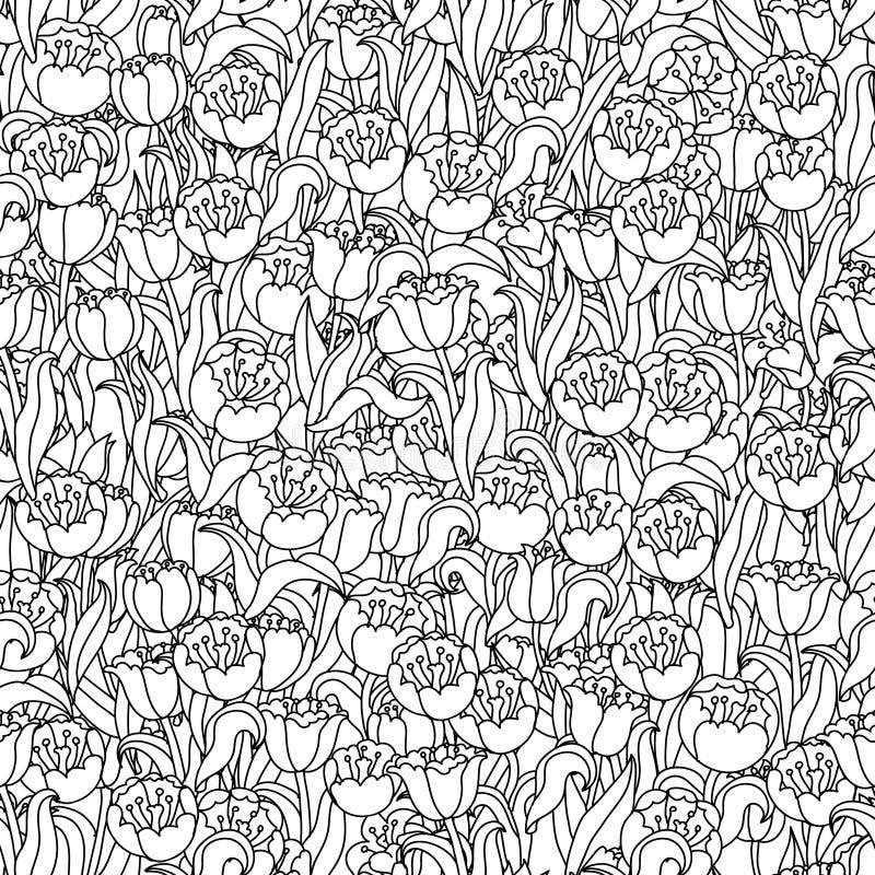 As tulipas colocam sem emenda ilustração do vetor