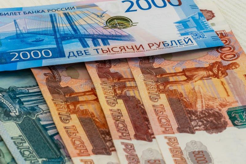 as várias cédulas velhas e novas do russo fecham-se acima como o fundo imagens de stock royalty free