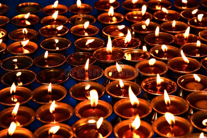 As velas da meditação fotografia de stock royalty free
