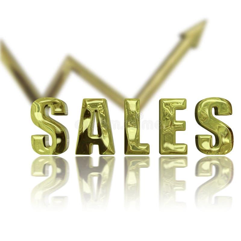 As vendas acima & levantam ilustração royalty free