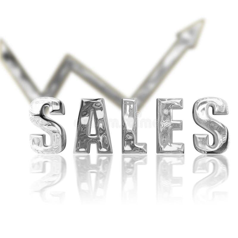 As vendas da platina acima & levantam ilustração royalty free