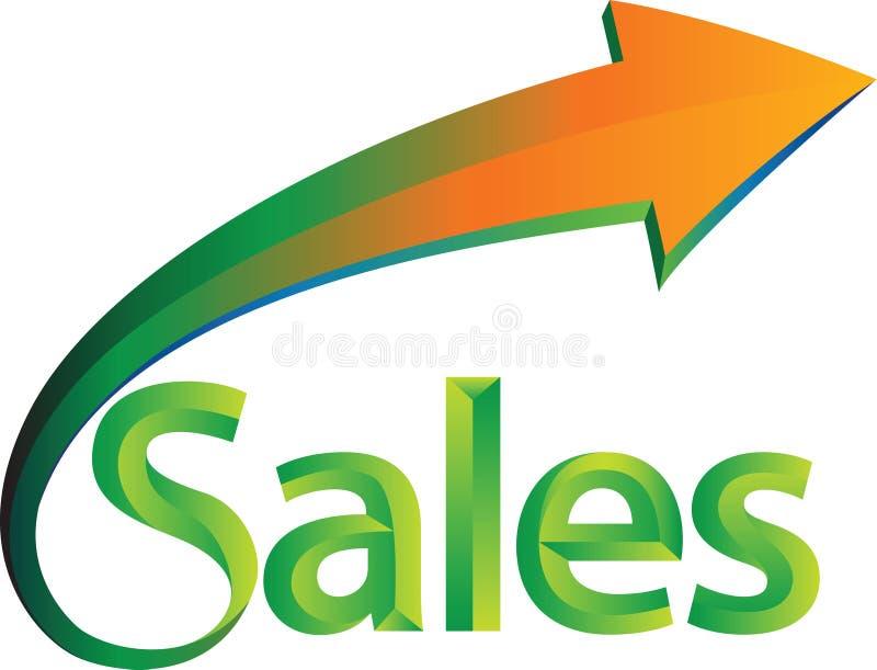 As vendas estão acima ilustração stock