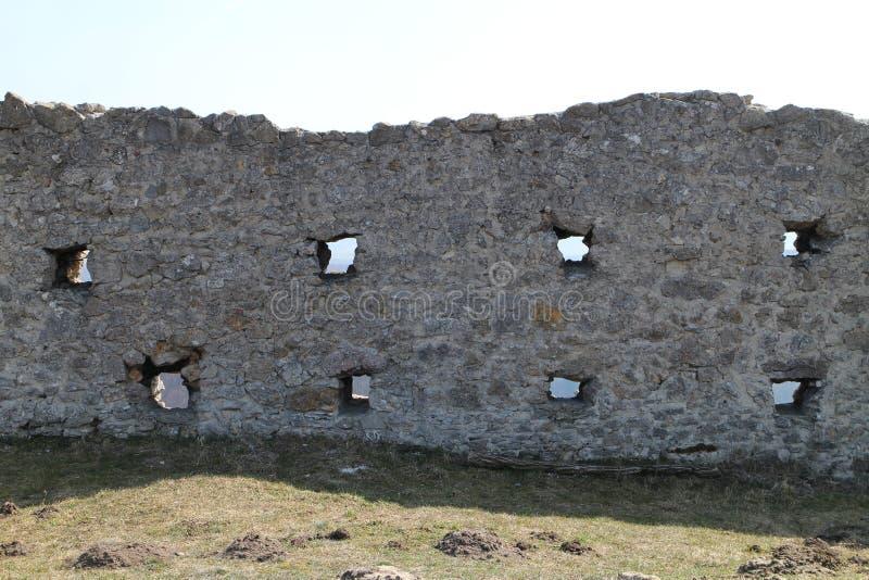 As vigias na parede do  de BranÄ fortificam, pahorkatina do ¡ de Myjavskà fotos de stock royalty free