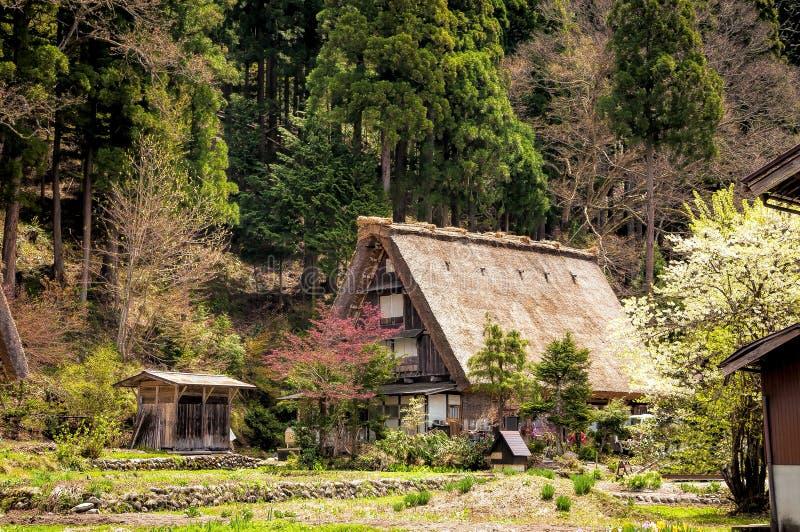 As vilas históricas de Shirakawago fotografia de stock