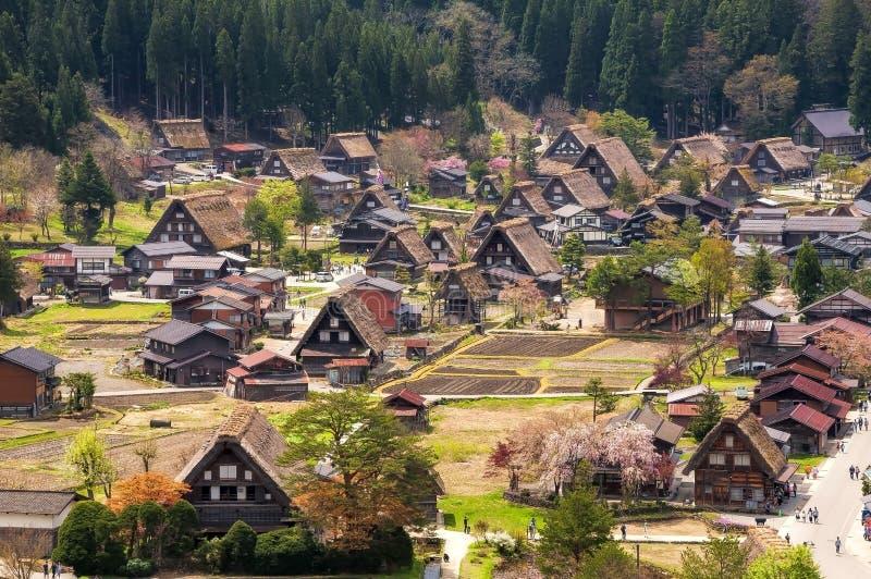 As vilas históricas de Shirakawago fotos de stock