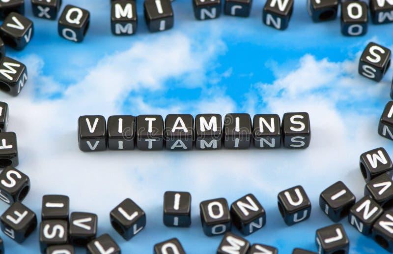 As vitaminas da palavra fotos de stock royalty free