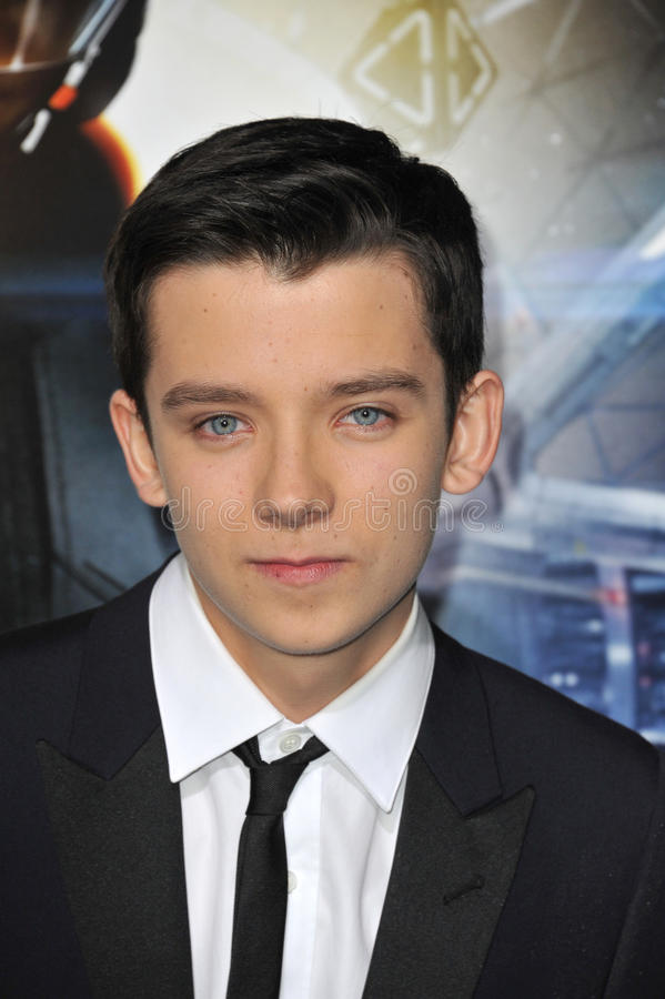 Asa Butterfield. LOS ANGELES, CA - OCTOBER 28, 2013: Asa Butterfield at the Los Angeles premiere of his movie Ender's Game at the TCL Chinese Theatre royalty free stock image