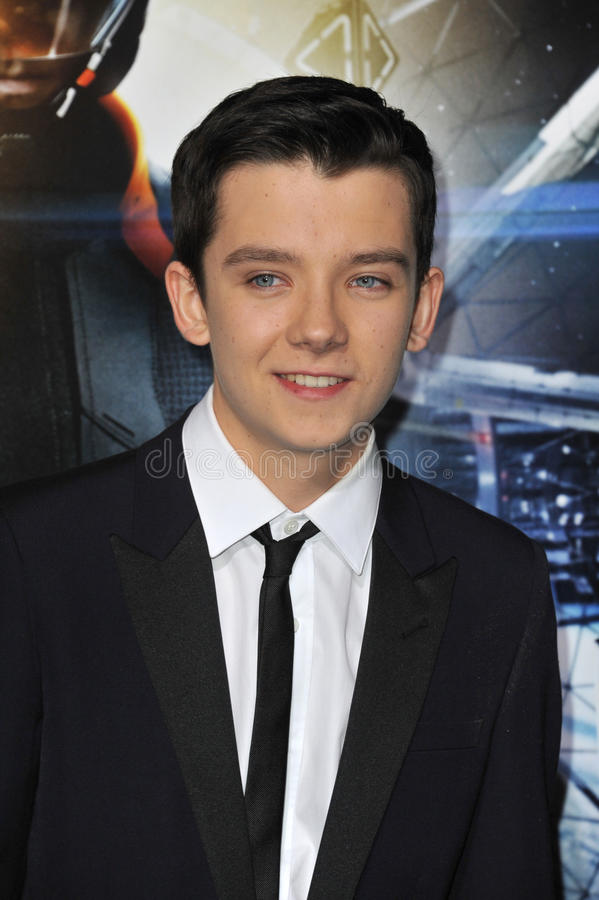 Asa Butterfield. LOS ANGELES, CA - OCTOBER 28, 2013: Asa Butterfield at the Los Angeles premiere of his movie Ender's Game at the TCL Chinese Theatre. EDITORIAL royalty free stock photography