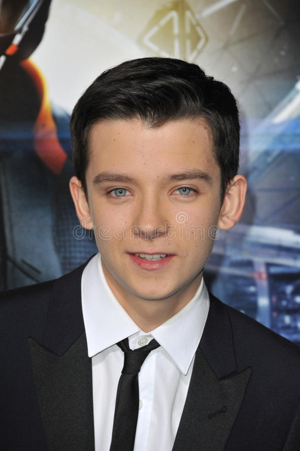 Asa Butterfield. LOS ANGELES, CA - OCTOBER 28, 2013: Asa Butterfield at the Los Angeles premiere of his movie Ender's Game at the TCL Chinese Theatre. EDITORIAL stock image