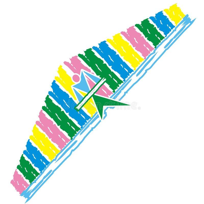 Download Asa delta stock vector. Illustration of clip, glider, jumping - 2129456