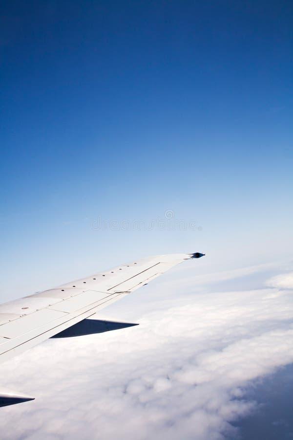 Asa do avião fotografia de stock