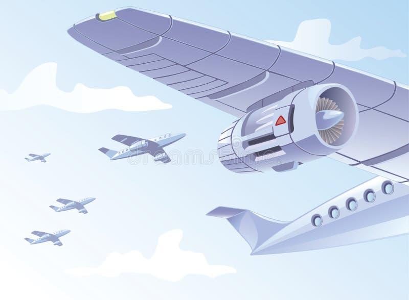 Asa do avião ilustração do vetor