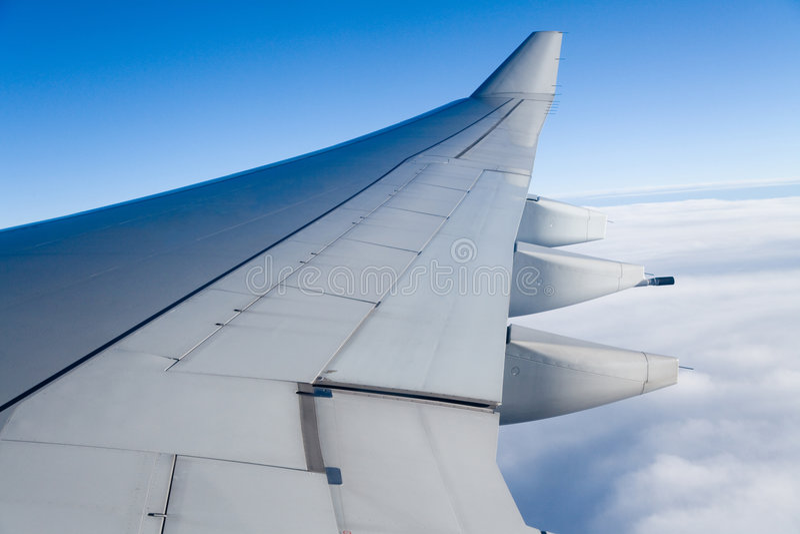 Asa do avião imagem de stock royalty free