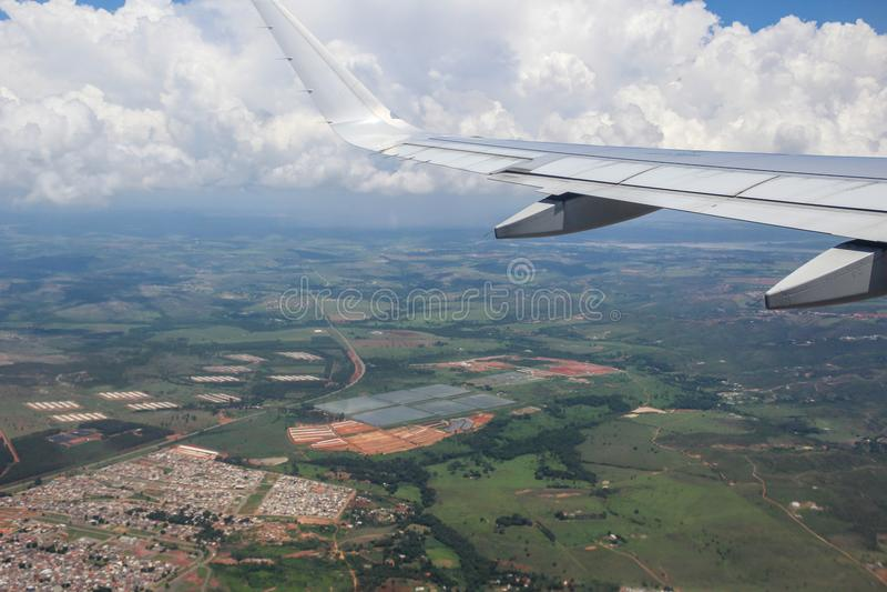 ASA do AVIÃO, BRASIL, o 2 de dezembro de 2016: viagem do Pa de São foto de stock