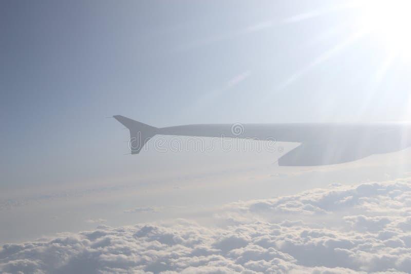 Download Asa do avião no vôo imagem de stock. Imagem de veículo - 12803481