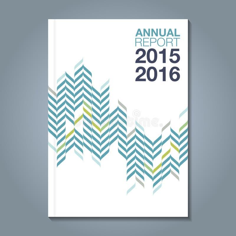 Asa do verde do informe anual da tampa ilustração royalty free