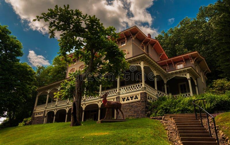 Asa Packer Mansion, Jim Thorpe, Pennsylvanie image stock