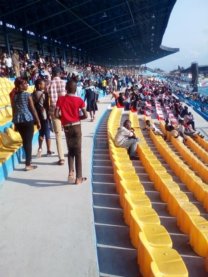#Asaba2018 stadium. The just concluded African senior athletics competition in delta state, Nigeria royalty free stock photography